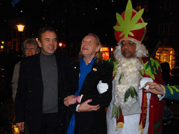 Ben Dronkers, Simon Vinkenoog and Green Sinterklaas