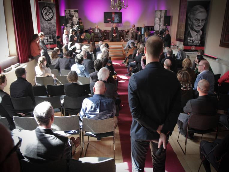 View of the Bethanienklooster during the press conference