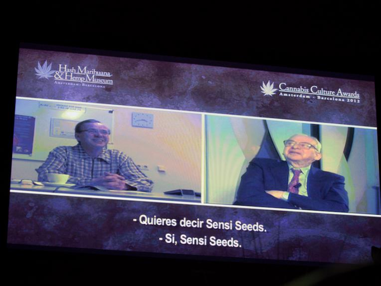 Ben Dronkers and Dr. Lester Grinspoon in a video conference