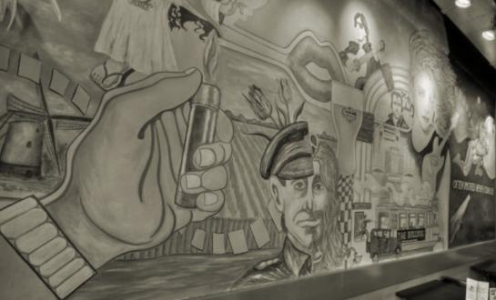 Mural in The Bulldog Palace