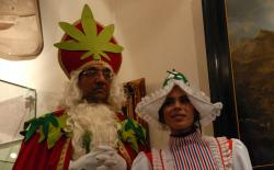 Green Sinterklaas and Shiva Spaarenberg