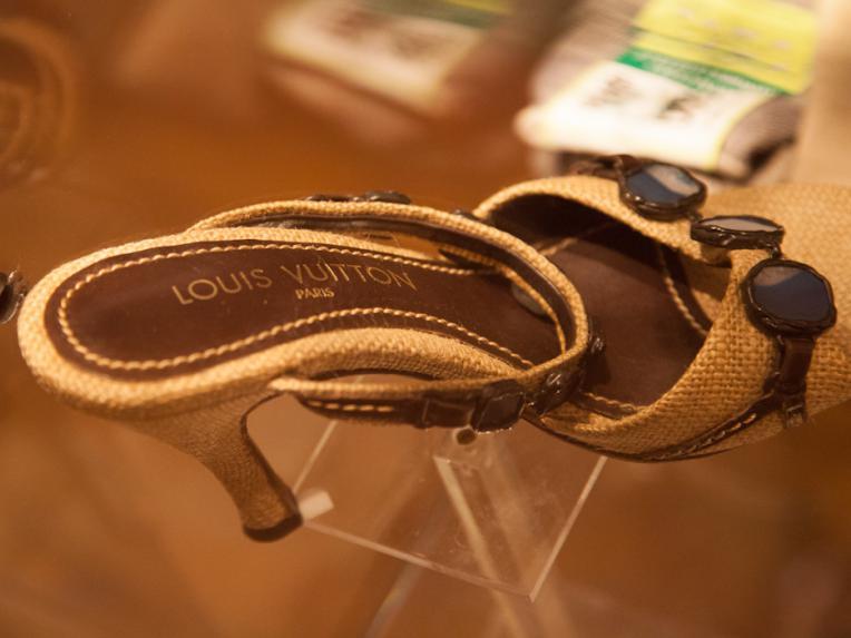 Hemp high heels by Louis Vuitton