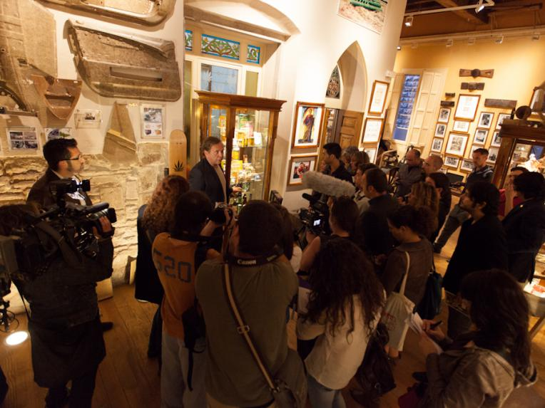 Press conference in the Hash Marihuana Cáñamo and Hemp Museum, Barcelona