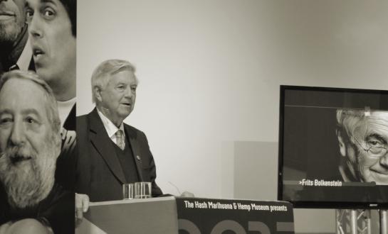 Frits Bolkestein spreekt bij de Cannabis Culture Awards