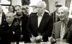 Thorvald Stoltenberg and Dries van Agt listening to Edith Ringnalda
