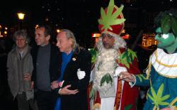 Frederik Polak, Ben Dronkers, Simon Vinkenoog en Sintercannabis