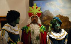 Green Sinterklaas and Piet