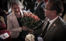 Ben Dronkers en Femke Boersma (vrouw van Frits Bolkestein)